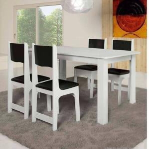 Conjunto Sala de Jantar Mesa e 4 Cadeiras Nicoli Soneto Móveis - R$269