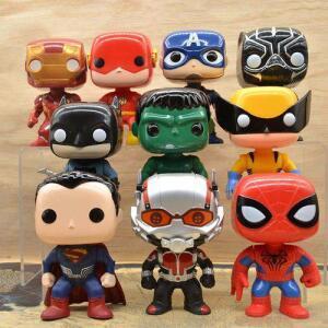 10 Pcs América Hulk Homem De Ferro Homem Aranha Mão Do Boneca Modelo Brinquedos