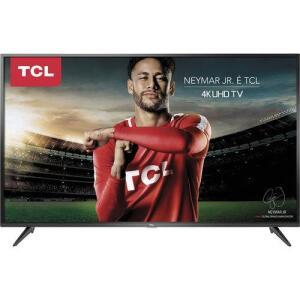 """Smart TV LED 65"""" TCL P65US Ultra HD 4K HDR 65P65US com Wifi Integrado 3 HMDI 2 USB"""