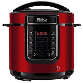 Panela de Pressão Digital Philco 6L Inox Vermelha | R$255