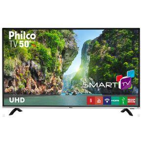 "Smart TV LED 50"" Philco 4K/Ultra HD PTV50F60SN - Conversor Digital Wi-Fi 3 HDMI 1 USB | R$1.710"