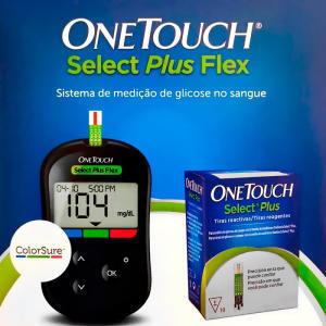Aparelho de Glicemia Onetouch Select Plus Flex + 10 Tiras (Sem Lancetadores) | R$13