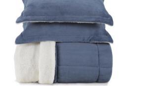 Edredom de Microfibra Com Porta Travesseiro Karsten Novaes Azul Casal 220 X 250 cm | R$277