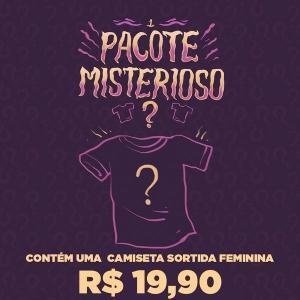 Pacote Misterioso Camisetas Femininas Nerd Universe - Tam. P| R$20