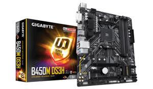 PLACA MÃE GIGABYTE B450M DS3H, CHIPSET B450, AMD AM4, MATX, DDR4 - R$499