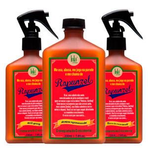 Kit Shampoo + Tratamento Antiqueda + Leave-in Lola Cosmetics Rapunzel R$68