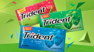 Chiclete Trident por R$1 no app Americanas