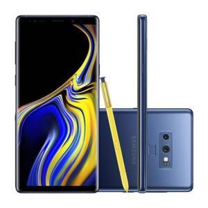 "Smartphone Samsung Galaxy Note 9 SM-N9600ZBJZTO 128GB Azul Tela 6.4"" Câmera 12MP Android 8.0 R$2.594"