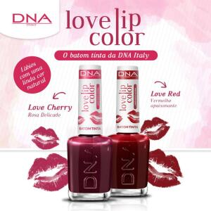 [60% de volta com AME] BATOM TINTA - LOVE LIP COLOR – KIT LOVE RED e LOVE CHERRY – DNA ITAL