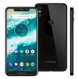 """Smartphone Motorola One XT1941 Preto 64GB Tela de 5,9"""", Dual Chip, Android 8.1, Câmera Traseira Dupla, Processador Octa-Core e 4GB de RAM"""