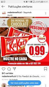 Kit Kat por 0.99 nos Supermercados Rede Store