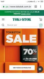 Tok stok Sale | 10% OFF na loja da Tok Stock