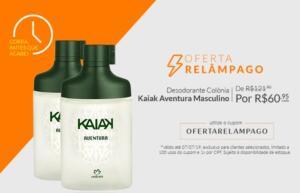 Leve 2 pelo Preço de 1. Desodorante Colônia Kaiak Aventura Masculino por apenas R$ 60,95 (cada).