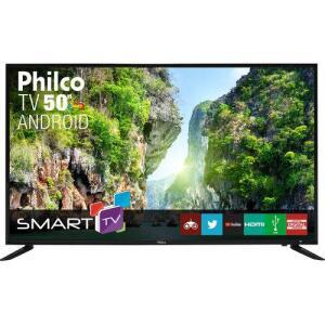 "[APP] - Smart TV LED 50"" Philco PTV50D60SA FULL HD Conversor Digital Integrado 2 HDMI 2 USB Wi-Fi R$1313"