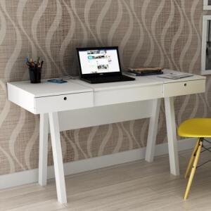 Penteadeira Escrivaninha Pe2002 Branco/Branco - Tecno Mobili | R$270