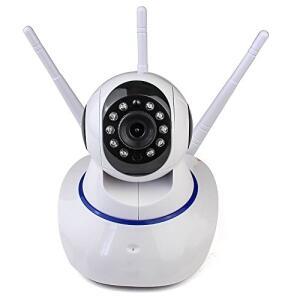 Camera IP Sem Fio 360° 3 Antenas HD WiFi RJ45 Visão Noturna Alarme - Luatek - R$90