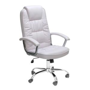 Cadeira de Escritório Presidente Finland Branca | R$351