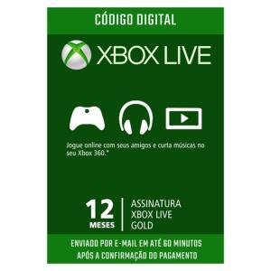 ASSINATURA XBOX LIVE GOLD 12 MESES R$141