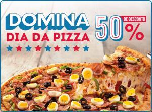 50% Off no Dia da Pizza na Domino's