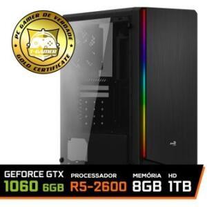 PC Gamer Ryzen 5 2600, gtx 1060