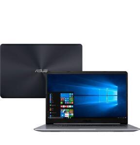 "Notebook Asus Vivobook X510UR-BQ378T Intel Core i5 4GB (Geforce 930MX) 1TB Tela 15,6"" Windows 10 - Cinza"