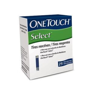 Tiras Reagentes One Touch Select - 25 unidades | R$25