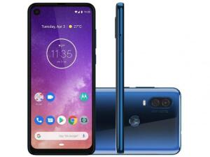 "Smartphone Motorola One Vision 128GB Azul Safira - 4G 4GB RAM 6,34"" Câm. Dupla + Câm. Selfie 25MP - R$1530"
