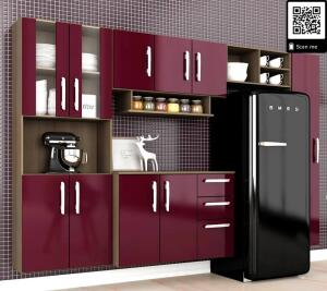 Cozinha Compacta Mayara| 5 Peças Terraro/fucsia - At Home - R$363