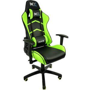 Cadeira Gamer Mx5 Giratoria Preto E Verde - Mymax | R$519