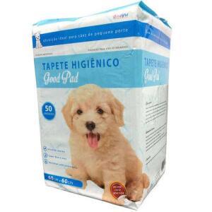 Tapete Higiênico Petlike Good Pad 60x60cm Aroma Natural Com 50 Unidades