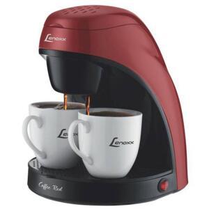 Cafeteira Elétrica Lenoxx Pca-031 Preta/vermelha - 127V - R$59