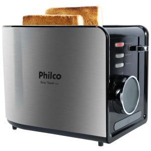Torradeira Philco Easy Toast Ptr2 – Aço Escovado/Preto | R$90