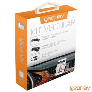 Kit Veicular Geonav para Celulares Android Preto - MIC31 I4MIC31PTO_PRD