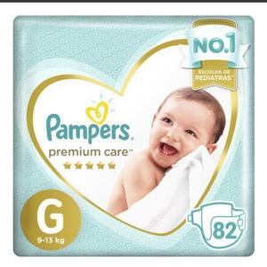 Fralda Pampers Premium Care G - 82 Unidades