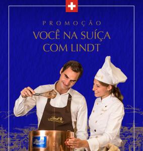 Promoção Você na Suíça com Lindt: a cada R$60 em compras você recebe um número da sorte