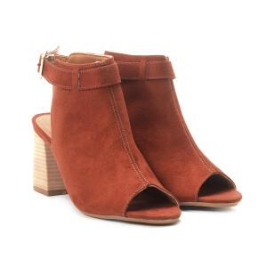 Ankle Boot Suede Zatz Fivela Feminina - Caramelo R$80