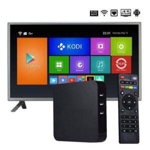 TV Box 4K Smart Android 7.1 HDMI WiFi USB AV | R$100