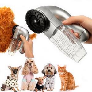 Aspirador Desembolador De Pelos Portátil Cachorros Gatos Cuidados Massagem SHED PAL Pet - Thata esportes | R$35