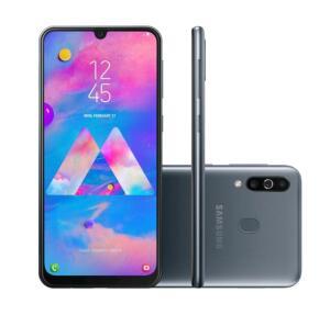 "[1x CC] Smartphone Samsung Galaxy M30 64GB Dual Chip Android 8.1 Tela 6.4"" Octa-Core 4G Câmera 13MP +5MP+5MP - Preto (AME 1076)"