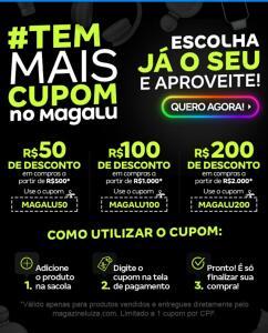 Magazine Luiza até R$200 de desconto