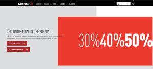 OUTLET REEBOK. + 30% DE DESCONTO ADICIONAL NAS COMPRAS ACIMA DE R$300.00.