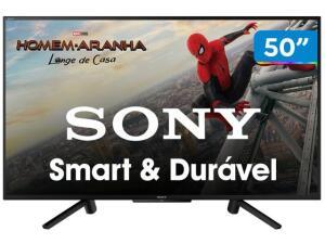 "Smart TV LED 50"" KDL-50W665F Sony, Full HD HDMI USB com X-Reality Pro e Wi-Fi Integrado | R$1.699"