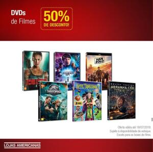 CD's, DVD's e Blu-Ray's com 50% off (Americanas - Loja Física)