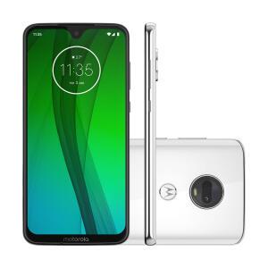 "Smartphone Motorola Moto G7 64GB Polar 4G Tela 6,24"" Câmera 12MP Selfie 8MP Dual Chip Android 9.0   R$879"