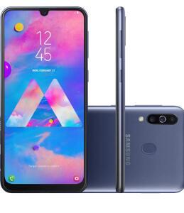 "[CC x1]Smartphone Samsung Galaxy M30 64GB Dual Chip Android 8.1 Tela 6.4"" Octa-Core 4G Câmera 13MP +5MP+5MP - Azul"