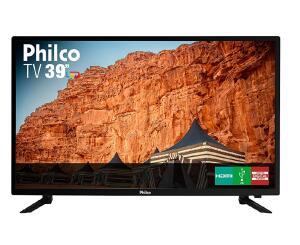 "TV LED 39"" Philco PTV39N87D 3 HDMI USB Frequência 60 Hz | R$800"