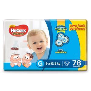 Fralda Huggies Tripla Proteção Hiper G, 78 Fraldas