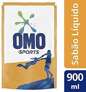 Sabão Líquido Omo Sports Refil 900 Ml, OMO