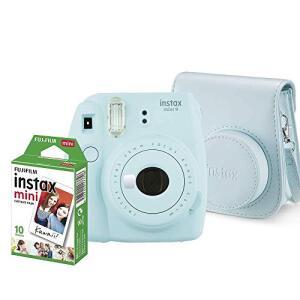 Kit Câmera Instantânea Instax Mini 9 Azul Acqua + Filme Instax Mini 10 fotos + Bolsa Azul Acqua, Fujifilm | R$342