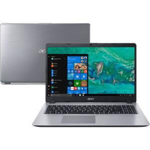Notebook A515-52G-577T 8ª Intel Core I5 8GB (Geforce MX130 com 2GB) 1TB LED HD 15.6'' W10 Prata- Acer | R$2609